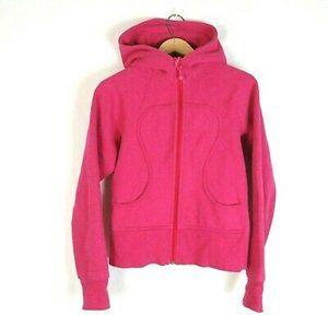 Lululemon Pink Scuba Zip Up Hoodie